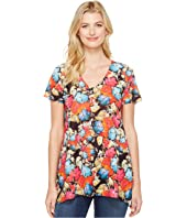 Nally & Millie - Floral Print V-Neck Tunic