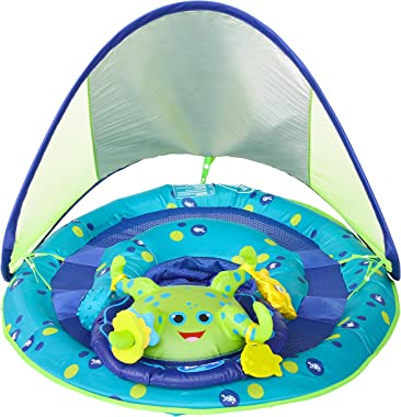 SwimWays Baby Spring Float Activity Center with Canopy - Inflatable Float for Children with Interactive Toys and UPF Sun Prot