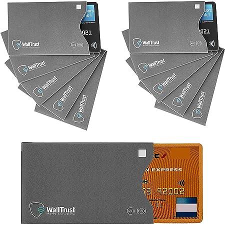 WallTrust RFID NFC Cover protettiva per carte di credito, aperto a lato, 10x