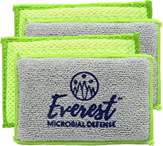 NoStench Kitchen Sponge by Everest Microbial Defense   Durable Antibacterial Microfiber Mesh and Terry Cloth,