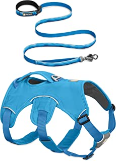 RUFFWEAR NEW 2017 BLUE WEB MASTER DOG HARNESS ? SECURE REFLECTIVE SUPPORTIVE MULTI USE ? ALL SIZES (Large / XL)