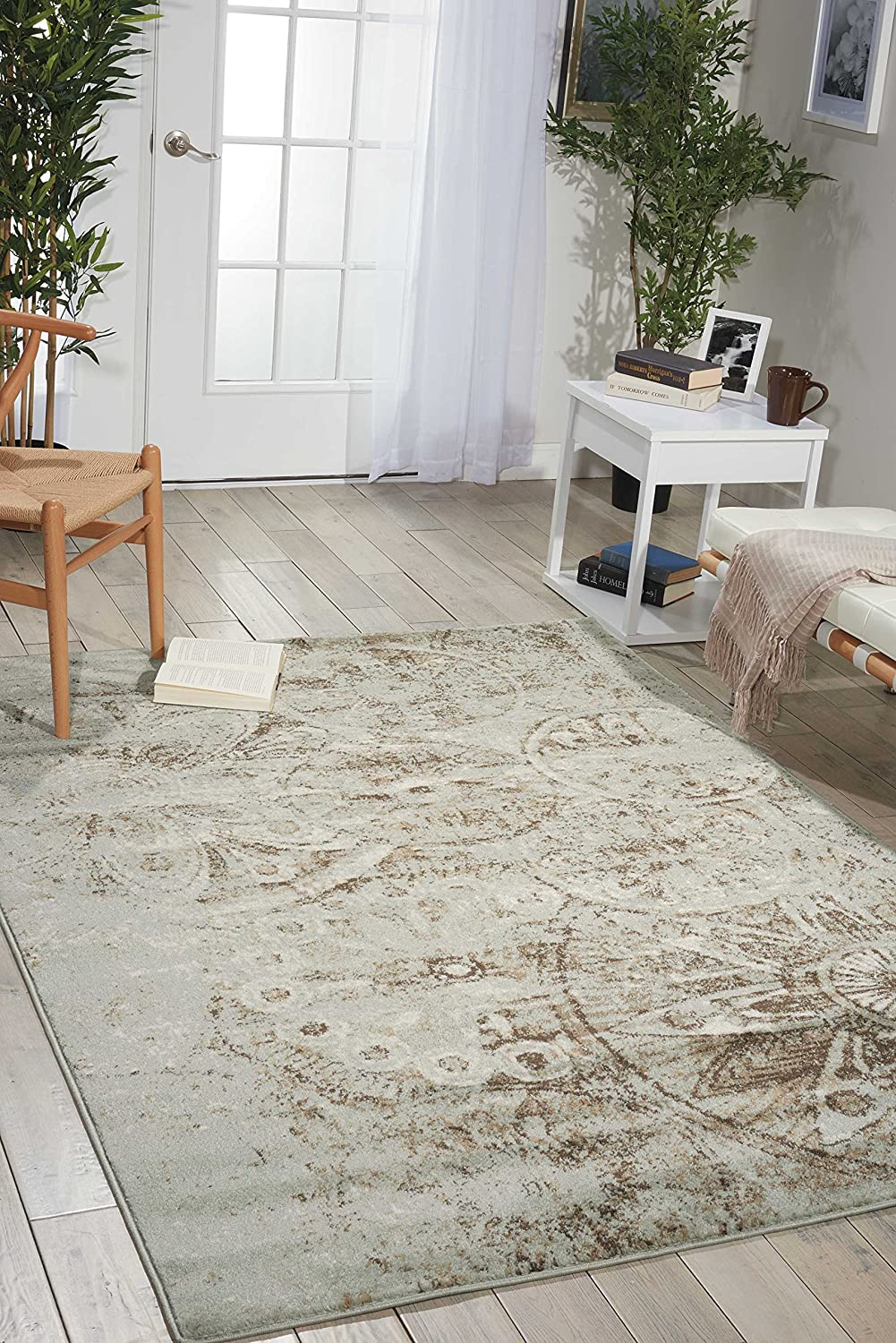 Nourison Euphoria Traditional Rustic Vintage Rug Area Super SEAL limited product beauty product restock quality top 3 Fee Grey