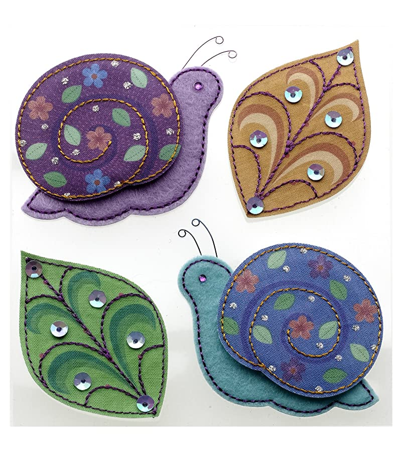 Jolee's Boutique Dimensional Stickers, Colorful Snails