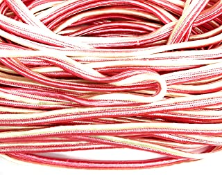 White Pink Braid Soutache Flat Cord Beading, 6mm 1/4'' Sewing, Middy Braid Quilting Trimming String 10 Yards