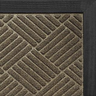 DEXI Large Door Mat Front Indoor Outdoor Doormat,Heavy Duty Rubber Outside Rug for Entryway Patio Garage,4'x6',Brown
