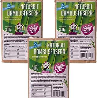 Bambusfaser Mehl Dreierpack 3 x 300 g   low carb paleo vegan glutenfrei keto   Bambusmehl als Backzutat   gesund abnehmen kohlenhydratarm ballaststoffreich   Dreierpack Sparpaket