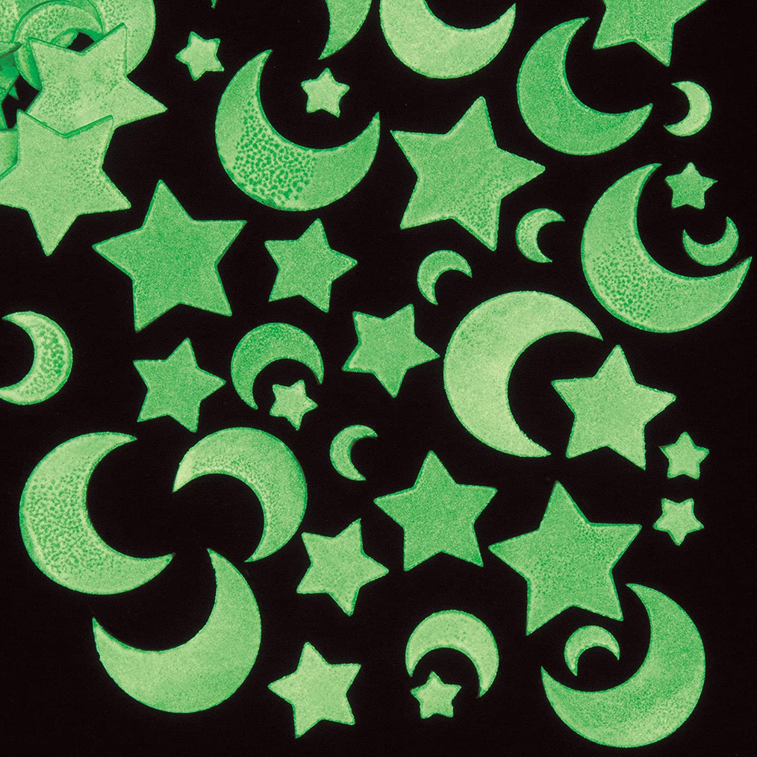 Baker Ross EF456 Moon Star Stickers - 120 Courier shipping free shipping Glow in Beauty products of Pack The