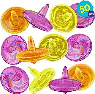 comprar comparacion THE TWIDDLERS 50pcs Peonzas Trompo para Ninos - Hace Girar Los Juguetes Peonza Turbo - Rellenar Bolsas De Fiesta Piñata Y ...