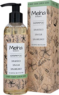 Meina Naturkosmetik - Bio Shampoo mit Rosmarin, Teebaum, Geranium und Lavendel - Vegan Haarshampoo mit ohne Mikroplastik, Silikone, Sulfate und Parabene