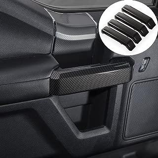 Voodonala Carbon Fiber Grain Inner Door Handles Cover Trim Kit Interior Accessories for Ford F150 2015 2016 2017