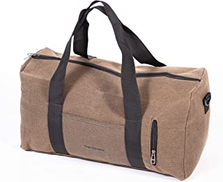 Peraware Canvas Duffle Bag for Travel, Overnight Weekend Bag (Sand)
