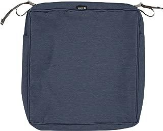 Classic Accessories Montlake Patio Seat Cushion Slip Cover, Heather Indigo, 19x19x3