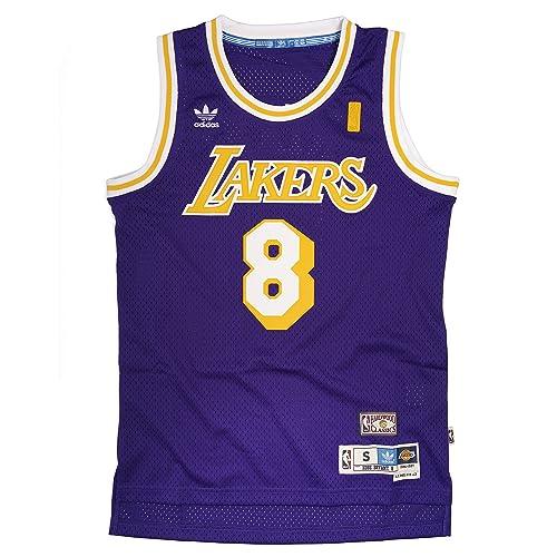 adidas Kobe Bryant Los Angeles Lakers Purple Throwback Swingman Jersey 2bc9d337d