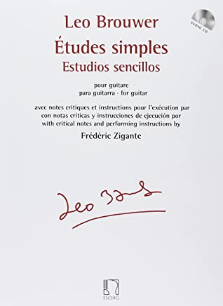 Etudes Simples For Guitar With Critical Notes And Performance Instructions W/CD (French and