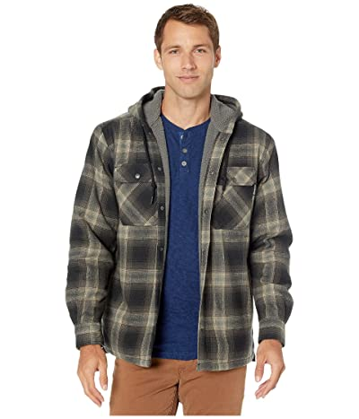 Wolverine Byron Hooded Shirt Jacket (Onyx Plaid) Men
