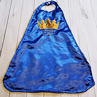 Baby Boy Smash Cake Birthday Satin Prince King Crown Cape Royal Blue