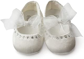 Glamour Girlz Baby Girls Special Occasion Bridal Christening Floral Satin Shoes 0-3 Month