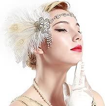 white flapper headpiece