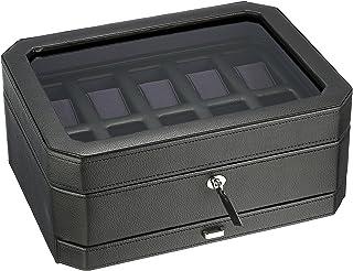 WOLF Windsor 10 Piece Watch Box with Drawer