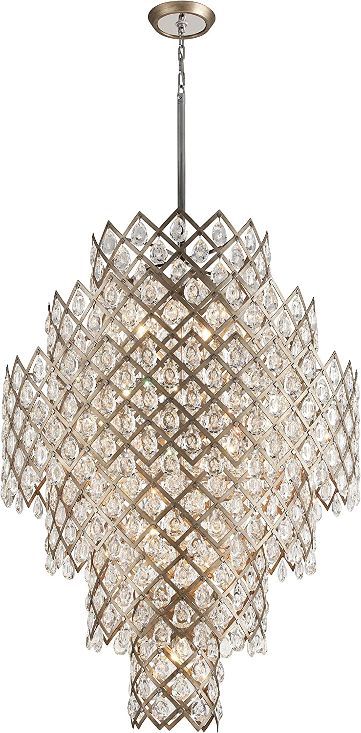 Tiara 17-Light Pendant - Vienna Department store Finish with Arlington Mall Crystal Clear Bronze