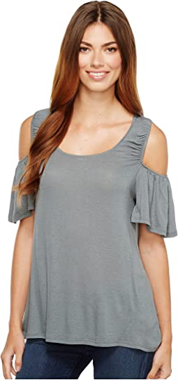 B Collection by Bobeau - Maxwelll Cold Shoulder Knit Top