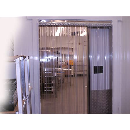 Strips with 25/% Overlap Width x 132 in. 11 ft Commercial Industrial Door PVC Vinyl Plastic Strip Curtain Door Kit 156x132-156 in. Clear Smooth 8 in Height 13 ft