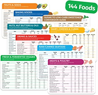 Keto Cheat Sheet Magnets - 9 Pc - Keto Diet for Beginners & Dummies Kit with 144 Foods - Magnetic Keto Food List Planning ...