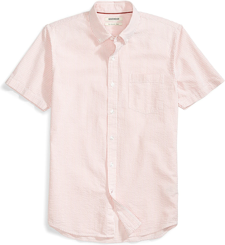 Goodthreads Men's Slim-Fit Short-Sleeve Seersucker Shirt