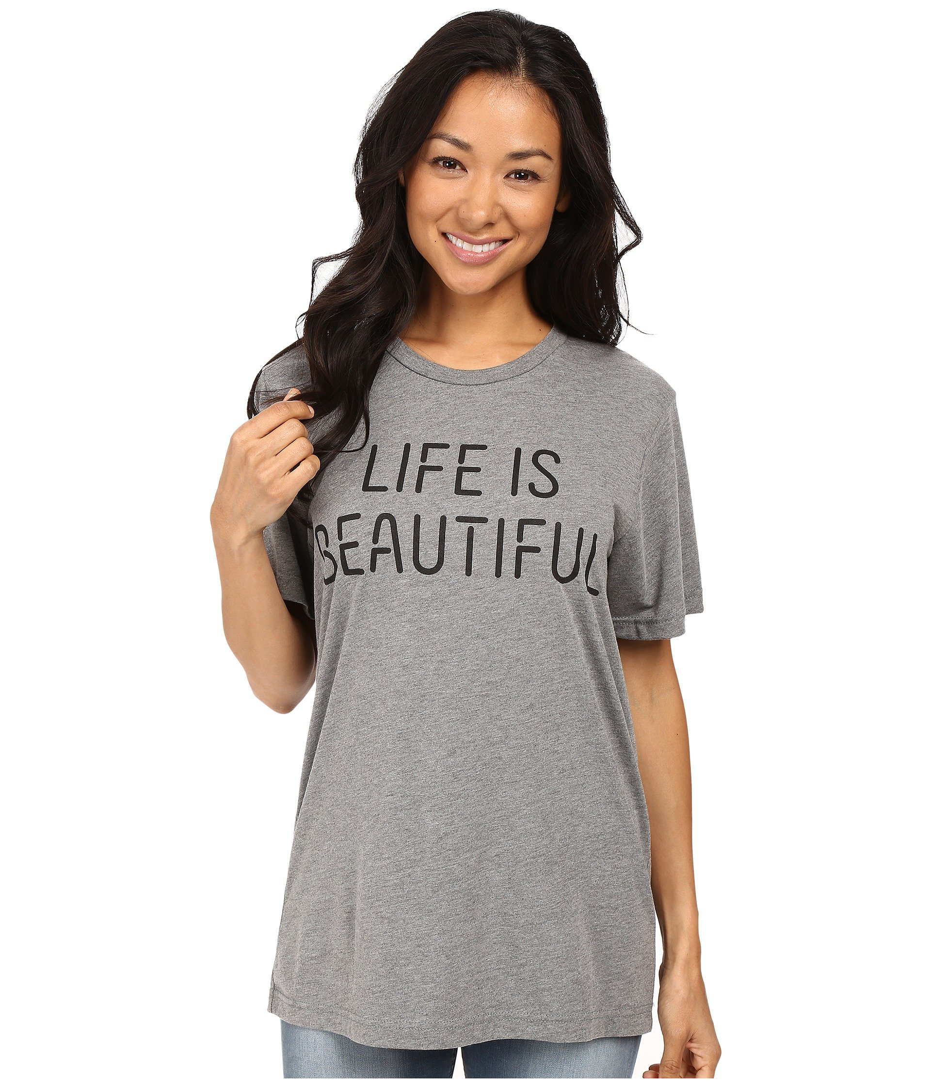 black Beautiful Crew Stack Tee Gray Life Lib Neck Is xC8OwWZ6H