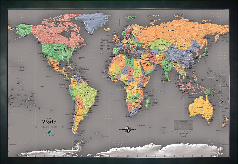 Homemagnetics 33 x 22 Modern World Magnetic Map