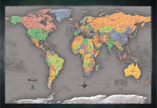Homemagnetics 33 x 22 Modern World Magnetic Map