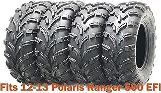 Set 4 WANDA ATV tires 25x8-12 & 25x11-12 for 12-13 Polaris Ranger 500 EFI