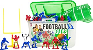 Kaskey Kids Football Guys - Red/Blue Inspires Kids Imaginations with Endless Hours of Creative, Open-Ended Play – Includes 2 Teams & Accessories – 28 Pieces in Every Set