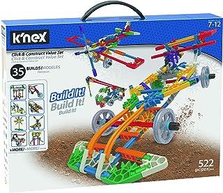 K'Nex 18026 Klicka och konstruera värdebyggnadsset, pedagogiska leksaker för barn, 522 delar inlärningskit, teknik för bar...
