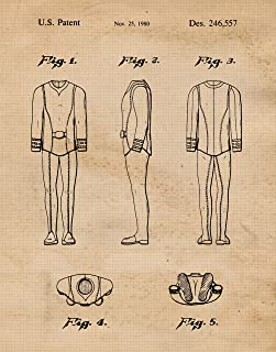 Original Star Trek Uniform Patent Poster Prints, Set of 1 (11x14) Unframed Photo, Wall Art Decor Gifts Under 15 for Home, Office, Garage, Man Cave, College Student, Teacher, Comic-Con & Movies Fan