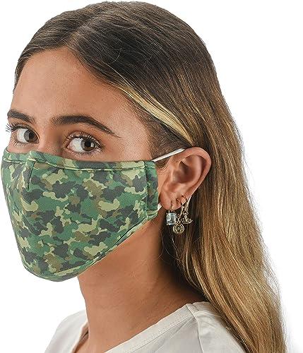 Slumbies! Cloth Face Coverings for Women & Men - Washable Face Coverings - Reusable Face Coverings - Flexible Nose Br...