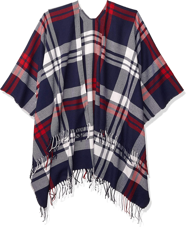 fashion-scarves Donna Goodthreads Sciarpa Da Donna Con Frange Ruana