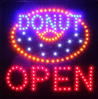 Ultra Bright LED Sign Super Donut Open Size 19
