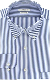 Van Heusen Men's Pinpoint Regular Fit Stripe Button Down...