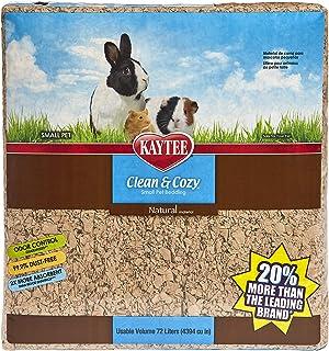 Kaytee Clean & Cozy sängkläder för små husdjur/gnagare/hamstrar, 99,9% dammfri, luktkontroll, naturlig, 72 liter