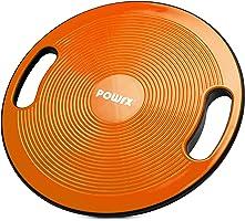 POWRX Balance Board inkl. Workout I Wackelbrett Ø 40cm mit Griffen I Therapiekreisel für propriozeptives Training und...