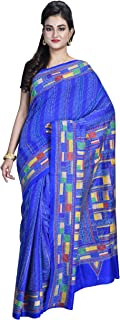 SareesofBengal Women's Handloom Kantha Stitch Pure Silk Saree