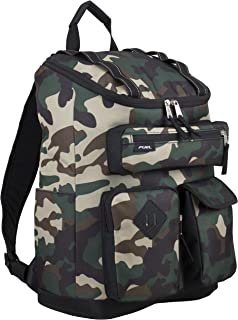 Multi-Pocket Cargo Backpack with High Capacity Top-Loader Entry, Hunter Green Camo