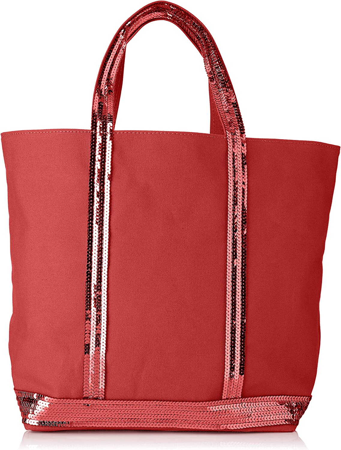 VANESSA BRUNO Women's Cabas Medium Coton Et Paillettes Tote