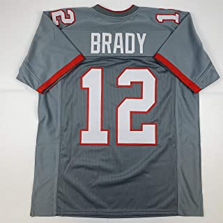 Unsigned Tom Brady Tampa Bay Pewter Grey 2020 Custom Stitched Football Jersey Size Men's XL New No Brands/Logos