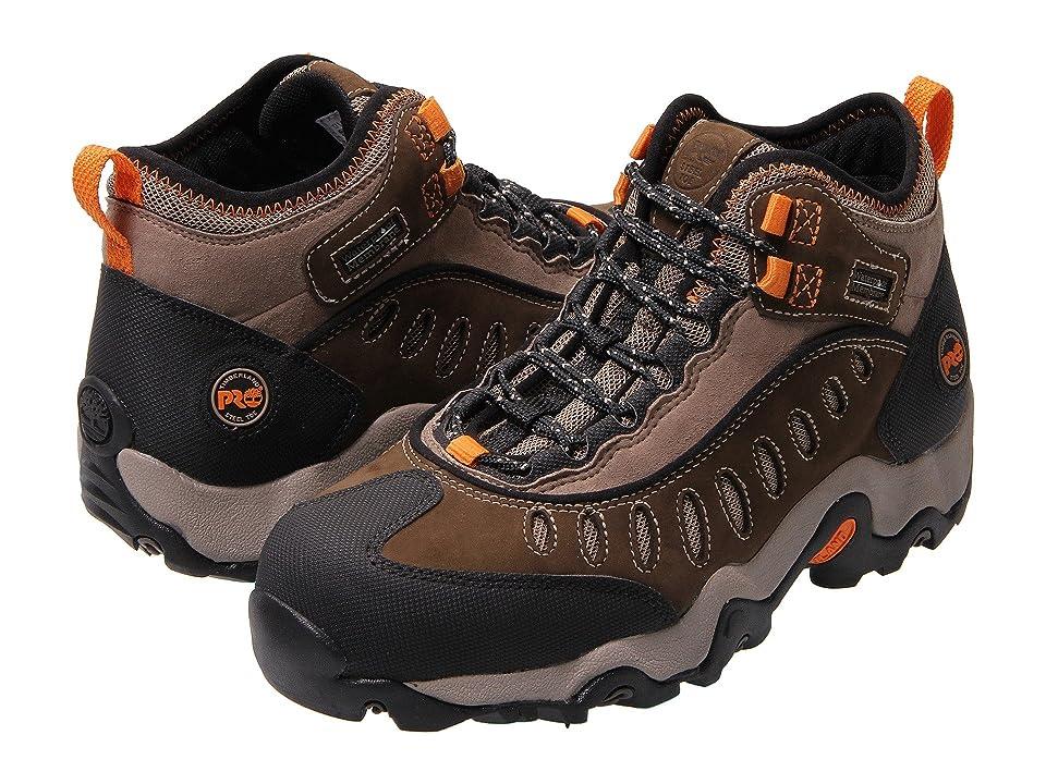 Timberland PRO Mudslinger Mid Waterproof Steel Toe (Brown Nubuck Leather) Men