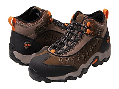 Timberland PRO Mudslinger Mid Waterproof Steel Toe (Brown Nubuck Leather) Men