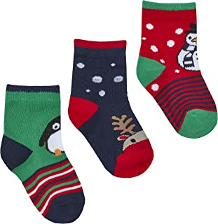 Babies 3 Pack of Novelty Christmas Socks