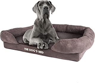 The Dog's Bed Orthopedic Dog Bed, Waterproof, Premium Memory Foam M-XXL, Dog Pain Relief for Arthritis, Hip & Elbow Dysplasia, Post Surgery, Lameness, Senior Supportive, Calming Bed, Washable Cover