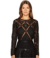 The Kooples - Long Sleeve Lace Top